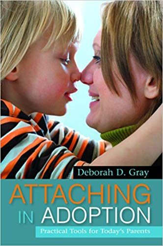 Attaching in Adoptionby Deborah Gray - Attaching in Adoption is a comprehensive guide for prospective and actual adoptive parents on how to understand and care for their adopted child and promote healthy attachment.This classic text provides practical parenting strategies designed to enhance children's happiness and emotional health. It explains what attachment is, how grief and trauma can affect children's emotional development, and how to improve attachment, respect, cooperation and trust. The book covers a wide range of issues including international adoption, Fetal Alcohol Spectrum Disorder, and learning disabilities, and combines sound theory and direct advice with case examples throughout. This book is a must read for anyone interested in adoption and for all adoptive families.
