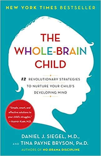 """The Whole-Brain Childby Daniel J. Siegal and Tina Payne Bryson - Daniel J. Siegel, neuropsychiatrist and author of the bestselling Mindsight, and parenting expert Tina Payne Bryson offer a revolutionary approach to child rearing with twelve key strategies that foster healthy brain development, leading to calmer, happier children. The authors explain—and make accessible—the new science of how a child's brain is wired and how it matures. The """"upstairs brain,"""" which makes decisions and balances emotions, is under construction until the mid-twenties. And especially in young children, the right brain and its emotions tend to rule over the logic of the left brain. No wonder kids throw tantrums, fight, or sulk in silence. By applying these discoveries to everyday parenting, you can turn any outburst, argument, or fear into a chance to integrate your child's brain and foster vital growth."""