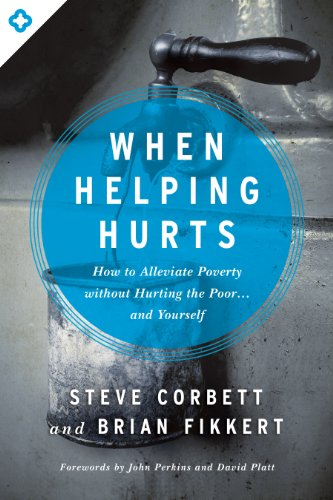 When Helping HurtsBy Steve Corbett and Brian Fikkert - With more than 225,000 copies sold, When Helping Hurts is a paradigm-forming contemporary classic on the subject of poverty alleviation and ministry to those in need. Emphasizing the poverty of both heart and society, this book exposes the need that every person has and how it can be filled. The reader is brought to understand that poverty is much more than simply a lack of financial or material resources and that it takes much more than donations and handouts to solve the problem of poverty.While this book exposes past and current development efforts that churches have engaged in which unintentionally undermine the people they're trying to help, its central point is to provide proven strategies that challenge Christians to help the poor empower themselves. Focusing on both North American and Majority World contexts, When Helping Hurts catalyzes the idea that sustainable change for people living in poverty comes not from the outside-in, but from the inside-out.