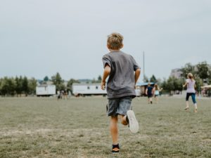 keys to help kids with trauma blog image of playing outside