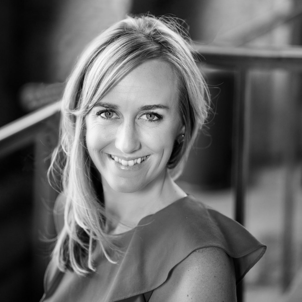 black and white photo of The Archibald Project advisory board member Cathrine